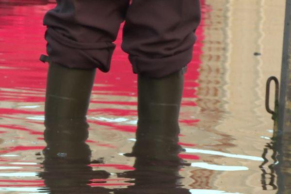 Inondations dans l'Oise (illustration)