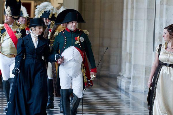 Musee saint Vaast à Arras. Dans le cadre des journées du patrimoine , reconstitution du mariage de Napoleon.