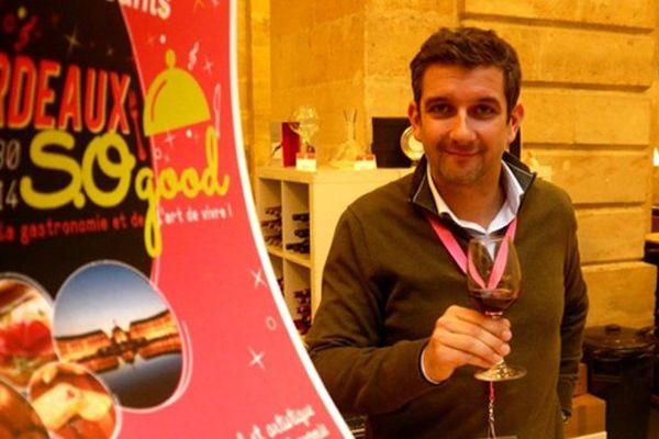 Franck Binard venu avec 15 producteurs des vins de Saint-Emilion