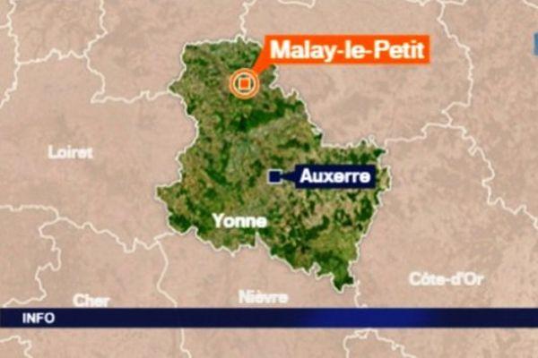 """L'accident s'est produit sur la départementale 225 à Malay-le-Petit au lieu dit """"Le Bosquet des Lys"""""""