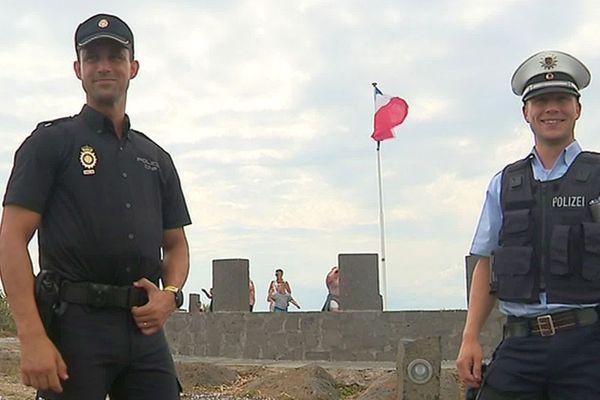 Agde (Hérault) - un policier allemand et un espagnol renforcent les brigades du commissariat durant l'été - juillet 2019.