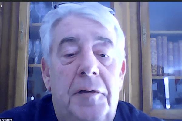 Jean-Louis Fousseret en visio-conférence avec les journalistes le 31 mars