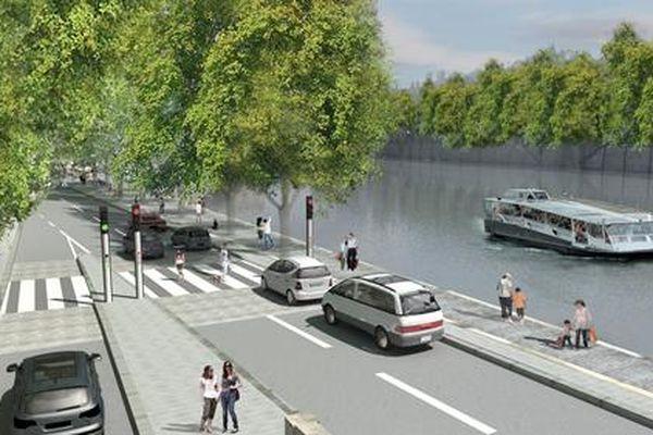 Promenade du port de l'Hôtel de Ville.