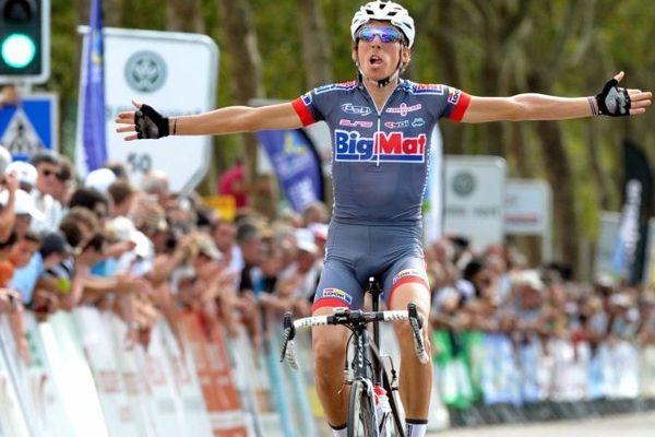Le vainqueur de l'étape Bourganeuf-Limoges, Stephane Rossetto, Tour du Limousin 2013