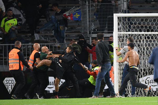 Des échauffourées après la rencontre Angers/Marseille le mercredi 23 septembre.