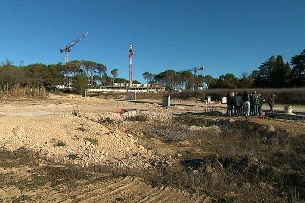 Castelnau-le-Lez (Hérault) - le chantier de la ZAC de Caylus - janvier 2017.