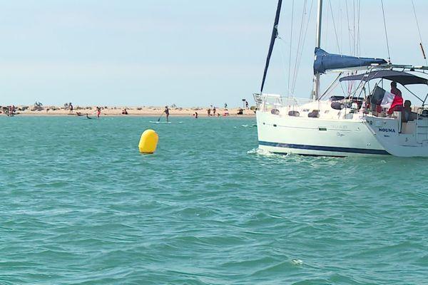 Chaque jour, plus de 1000 bateaux transitent à proximité du banc de sable de l'Espiguette.