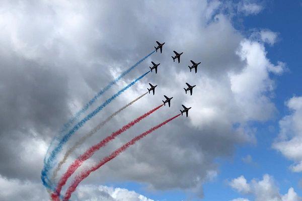 Démonstration de la patrouille de France à Colmar le 25 mai 2021