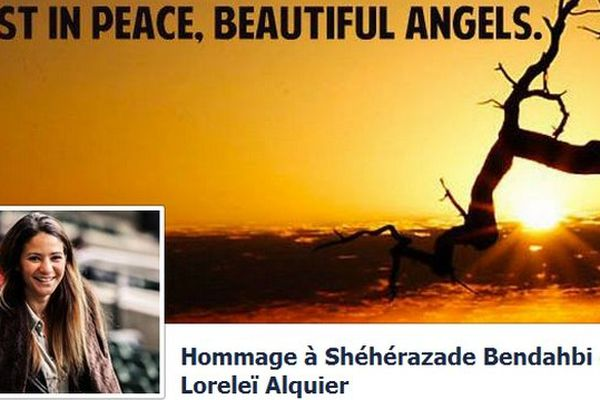 La page Facebook créée en hommage aux deux jeunes filles