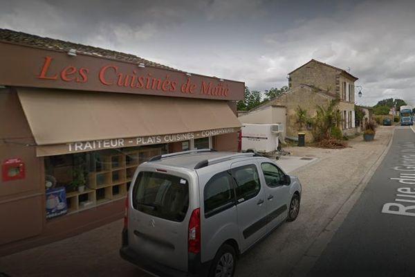 Le corps de la propriétaire de cette boutique traiteur de Ste-Terre près de Libourne gisait à l'intérieur de l'établissement
