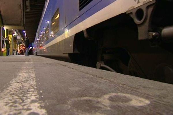 Un TGV en gare de Montpellier