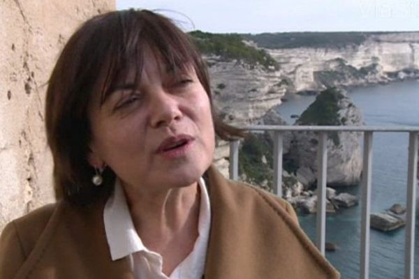 Marie Ferranti à Bonifacvio, le 11 janvier 2014