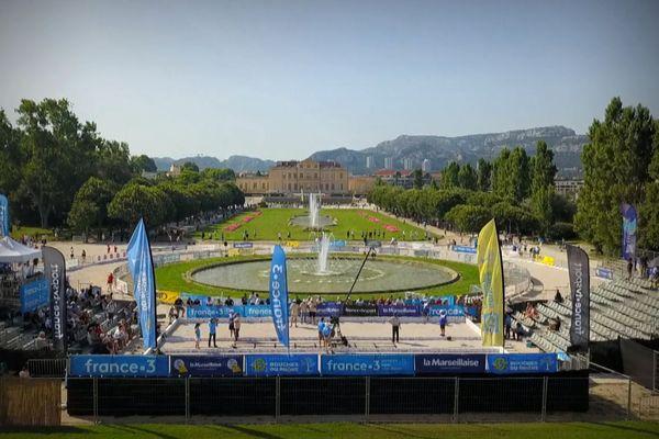 Le parc Borely à Marseille, aménagé pour le Mondial La Marseillaise à pétanque.