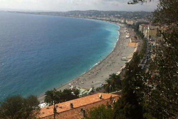 La baie des Anges à Nice.