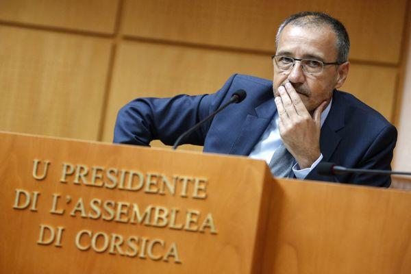 ILLUSTRATION - Jean-Guy Talamoni, président de l'Assemblée de Corse sortant.
