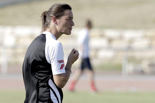Corinne Diacre, entraîneure du Clermont Foot 63.