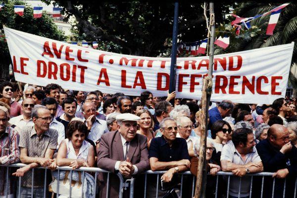 Les Ajacciens sont venus saluer en nombre le président de la République, en qui sont placés beaucoup d'espoirs.