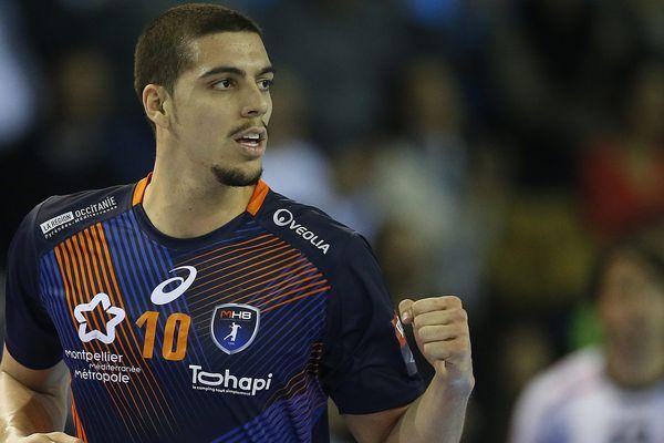 Le Montpelliérain Mathieu Grebille lors de la victoire du MHB 37-27 face à La Rioja en Ligue des champions de handball - 26 novembre 2016