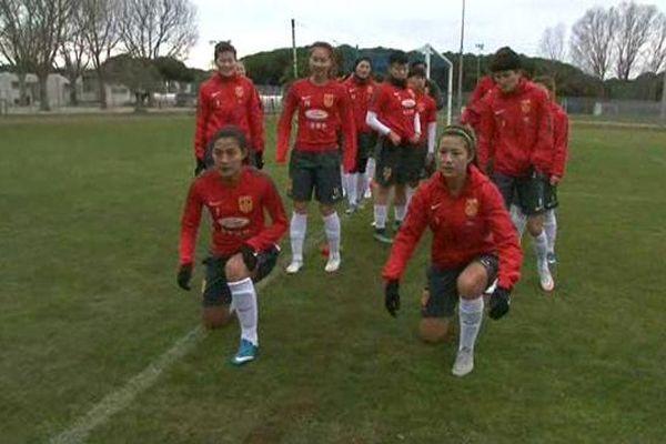 Les footballeuses chinoises s'entraînent à La Grande-Motte avec leur coach français, Bruno Bini