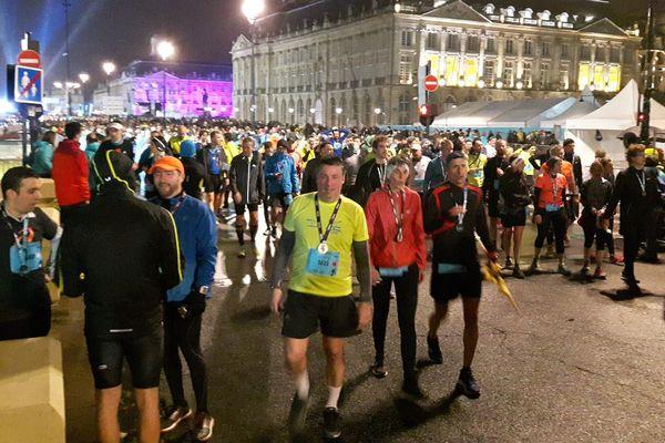 Les semi-marathoniens à l'arrivée