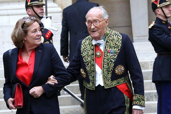 Alain Decaux et son épouse en octobre 2014.