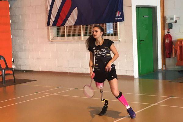 Coraline Bergeron à l'entraînement dans son club de Saintes.
