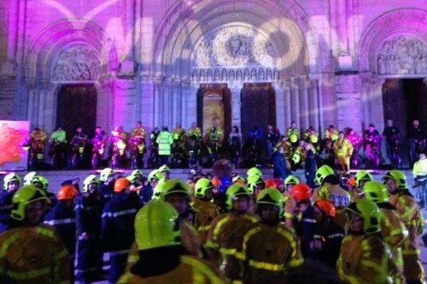 Place Saint-Pierre à Mâcon, vendredi 5 décembre 2014.