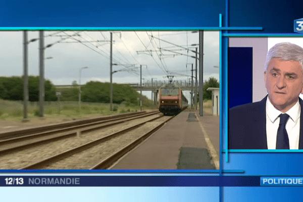 Hervé Morin, président de la Région Normandie, était ce lundi l'invité de l'édition de Caen pour parler de la convention qui va être signée par l'Etat et la région sur le transport ferroviaire.