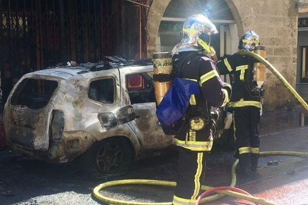 La voiture appartenait à la police municipale de Montpellier et avait été garée là à la demande de la hiérarchie - septembre 2019