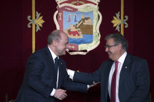 Bruno Le Roux (gauche) et Juan Ignacio Zoido (droite) ont signé une contribution importante entre la France et l'Espagne.