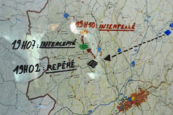 Carte de la Corrèze. La police suit alors la route de Josu Urbieta Alkorta arrêté à Tulle le 10 juin 2010.