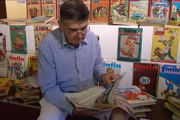 """Emmanuel Rambure est l'un des organisateurs de ces 8e """"Journées Tintinophiles"""" de Senlis."""