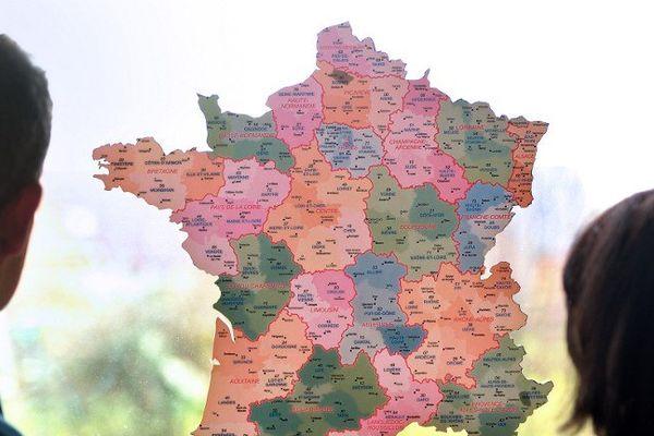 Une nouvelle carte des régions