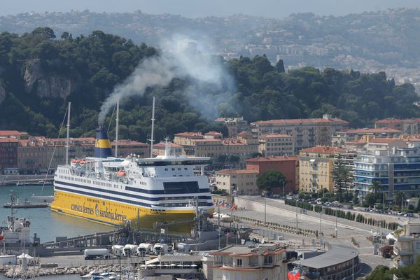 Un bateau de la Corsica Ferries au port de Nice (Archives)