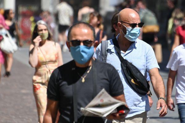 Le port du masque obligatoire dans l'hypercentre nantais dès le 14 août 2020, photo d'illustration