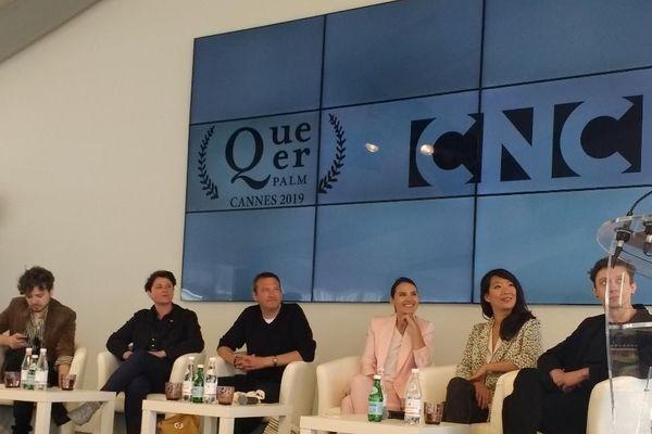 De gauche à droite :  Marcio Reolon, Claire Duguet, Franck Finance, Virginie Ledoyen, Kee-Yoon Kim et  Filipe Matzembacher