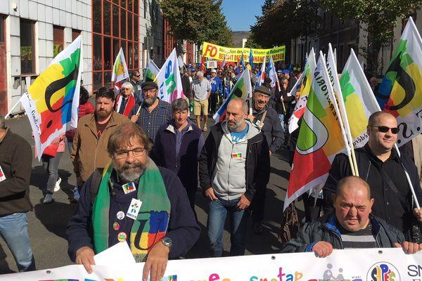 Pour la seconde journée de mobilisation contre la réforme du code du travail, plusieurs manifestations et rassemblements étaient organisés en Auvergne-Rhône-Alpes comme ici à Clermont-Ferrand.