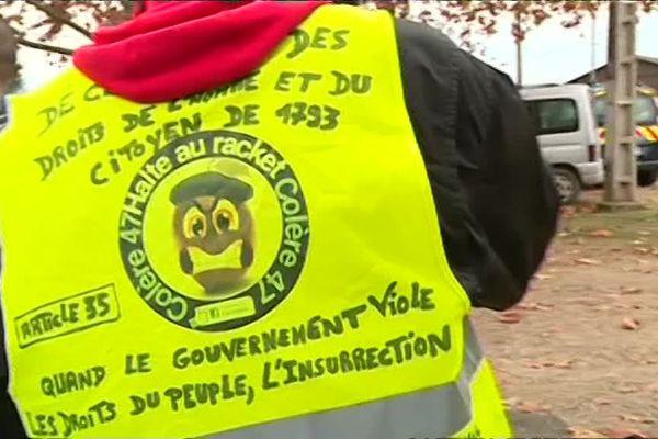 """Les gilets jaunes de Marmande  dénoncent le """"racket"""" de l'état"""