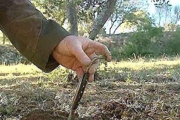 Avec ses deux extrémités forgées, le grattou audois permet de gratter des sols durs ou plus meubles.