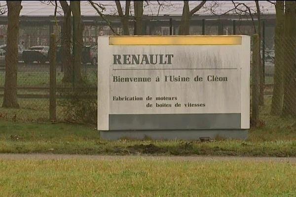 Archives / L'entrée de l'usine Renault Cléon