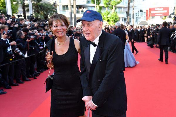 Rémy Julienne et sa compagne Justine Poulin sur le tapis rouge.