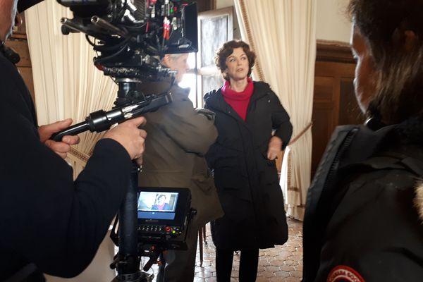 Anny Duperey tourne Péril au château