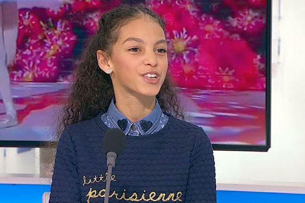 """Jasmine Atrous, 11 ans, native de Lunel dans l'Hérault, a remporté la catégorie """"danse"""" du concours """"Prodiges"""". 2 janvier 2018."""