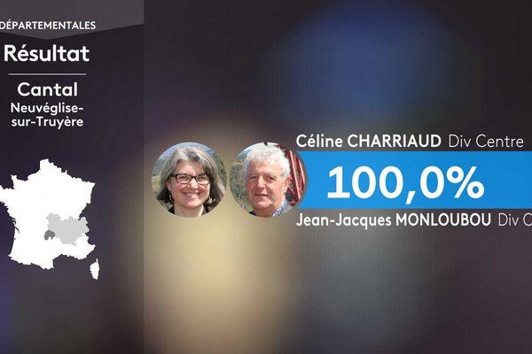 Les résultats du 1er tour des élections départementales à Neuvéglise (Cantal).