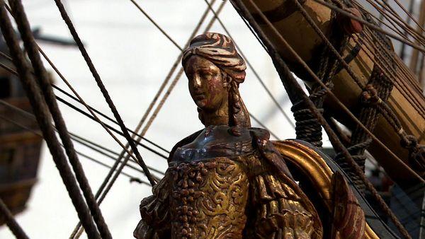 """La frégate """"Sultane"""" faisait en réalité 7 mètres de haut."""