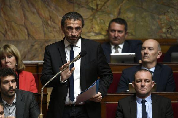 Le député nationaliste corse Paul-André Colombani en séance à l'Assemblée nationale.