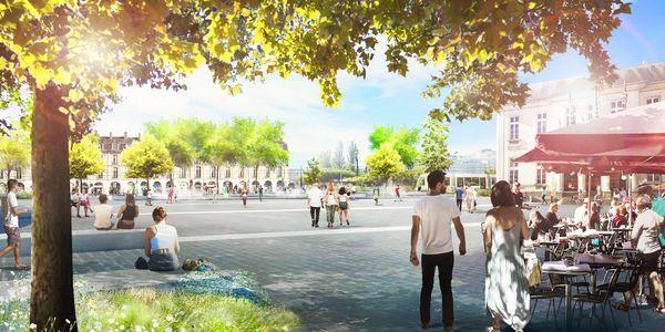 La Place du Commerce rénovée.