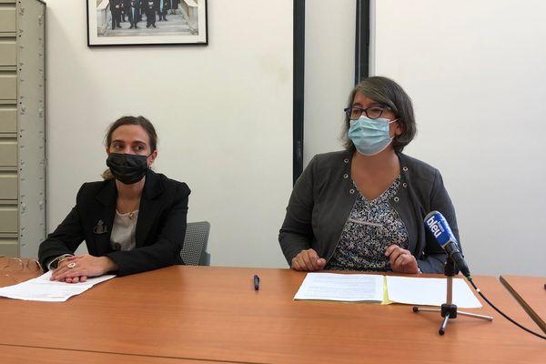 La procureure de Périgueux Solène Belaouar lors du point presse sur l'affaire du viol de Boulazac.