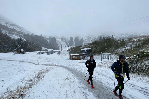 Au Sancy, les coureurs ne s'attendaient pas à de telles conditions météo.