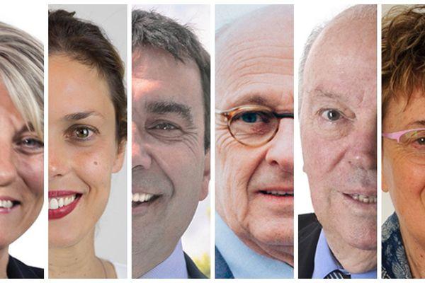 Les six nouveaux députés LREM et LR du Loiret.